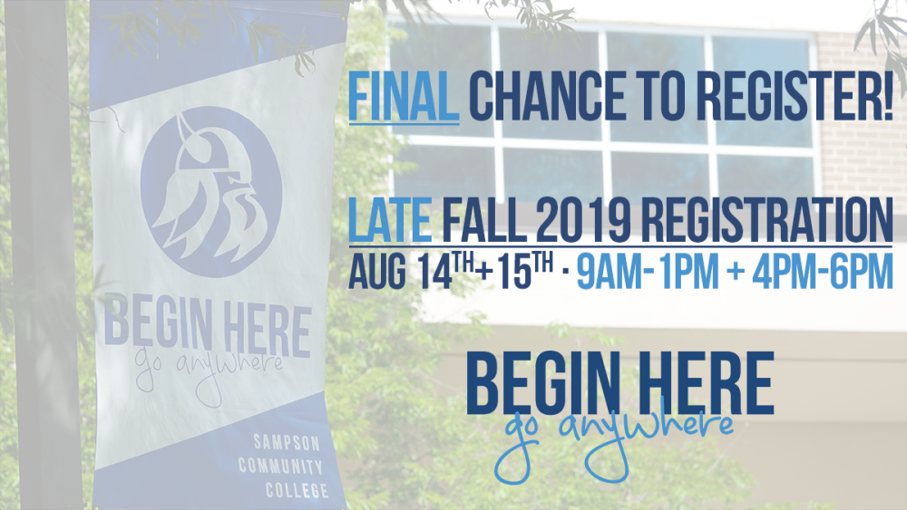 August 14th and 15th Late Registration