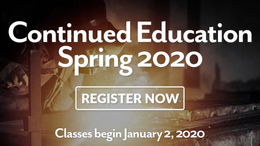 ConEd Spring 2020 Registration