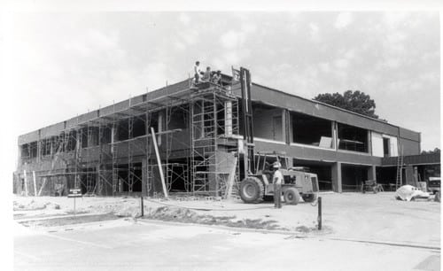 Construction of WW Kitchin Hall building