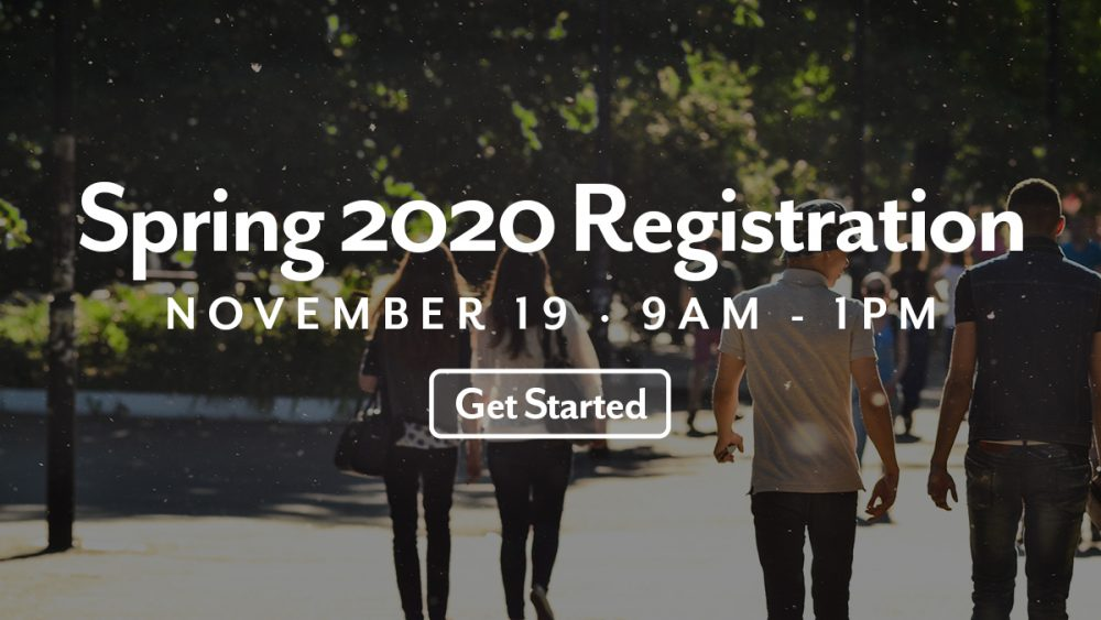 Spring 2020 Registration Final Notice